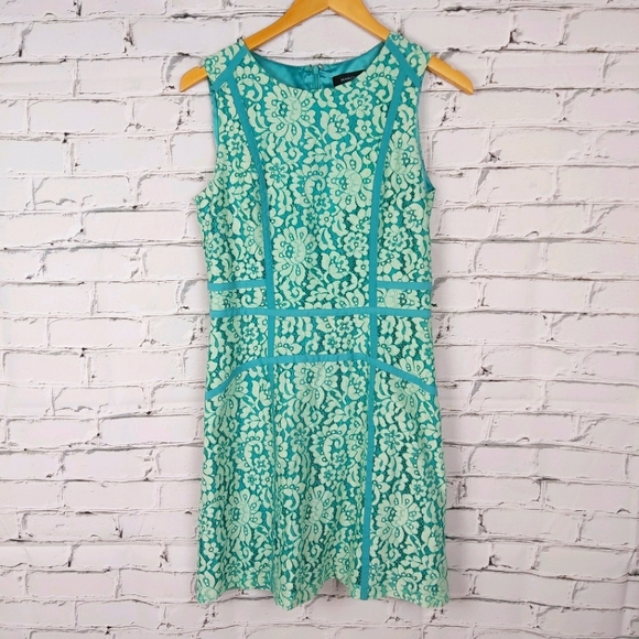 Marciano Tiffany Blue Lace Dress